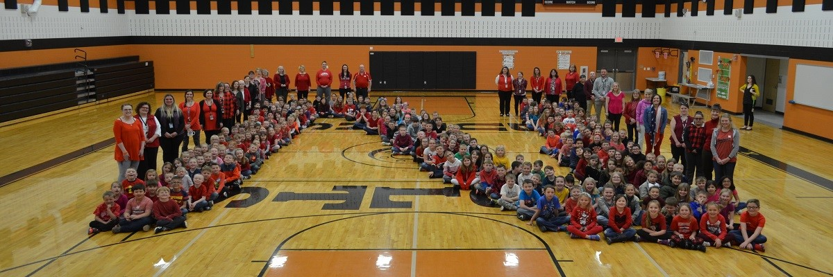 Burns Elementary has HEART!  Students raised funds to help a school in Nebraska after devastating floods this spring.